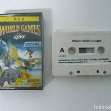 Videojogos e Consolas: WORLD GAMES / JEWEL CASE / MSX / RETRO VINTAGE / CASSETTE - CINTA. Lote 197760820