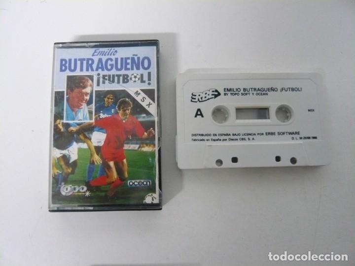 EMILIO BUTRAGUEÑO FÚTBOL / JEWEL CASE / MSX / RETRO VINTAGE / CASSETTE - CINTA (Juguetes - Videojuegos y Consolas - Msx)