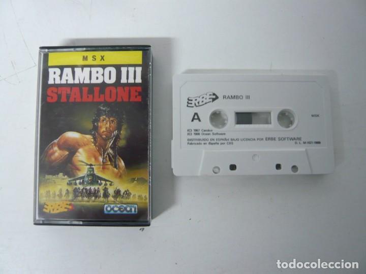 RAMBO III / JEWEL CASE / MSX / RETRO VINTAGE / CASSETTE - CINTA (Juguetes - Videojuegos y Consolas - Msx)
