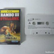 Videojuegos y Consolas: RAMBO III / JEWEL CASE / MSX / RETRO VINTAGE / CASSETTE - CINTA. Lote 247100745