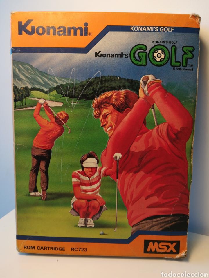 JUEGO DE CARTUCHO MSX KONAMI'S GOLF (1985) COMPROBADO FUNCIONA (Juguetes - Videojuegos y Consolas - Msx)