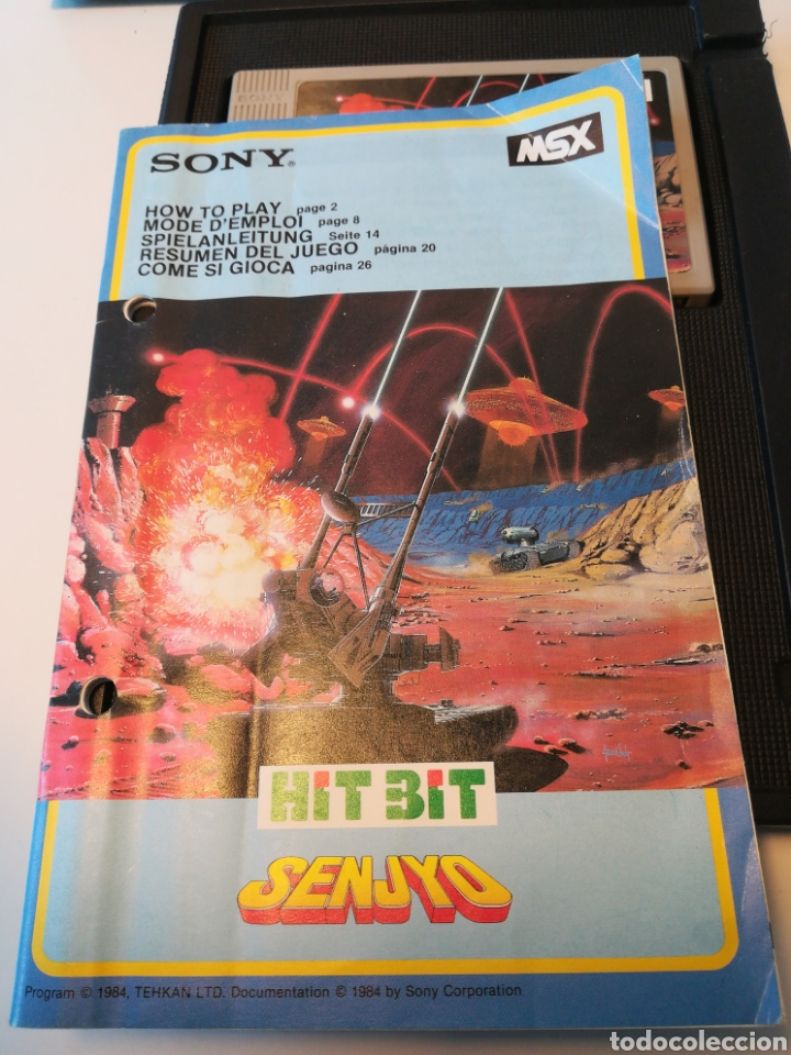 Videojuegos y Consolas: Juego de cartucho MSX Senjyo (Hit Bit, 1984) COMPROBADO FUNCIONA - Foto 4 - 200262428