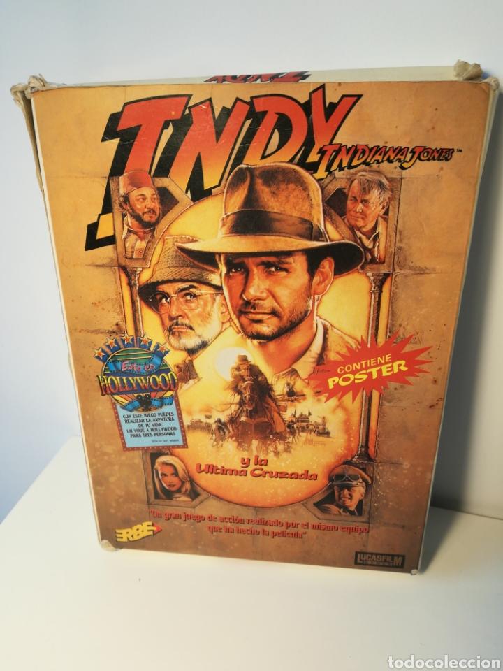 JUEGO MSX CASSETTE INDY INDIANA JONES (ERBE, 1989) CAJA DE CARTÓN (Juguetes - Videojuegos y Consolas - Msx)
