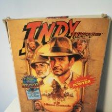Videojuegos y Consolas: JUEGO MSX CASSETTE INDY INDIANA JONES (ERBE, 1989) CAJA DE CARTÓN. Lote 200280801
