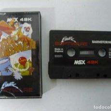 Videojuegos y Consolas: BARNSTORMER / JEWEL CASE / MSX / RETRO VINTAGE / CASSETTE - CINTA. Lote 201276306