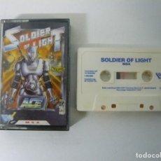 Videojuegos y Consolas: SOLFIER OF LIGHT DE DRO SOFT / JEWEL CASE / MSX / RETRO VINTAGE / CASSETTE - CINTA. Lote 201276387