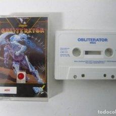 Videojogos e Consolas: OBLITERATOR DE DRO SOFT / JEWEL CASE / MSX / RETRO VINTAGE / CASSETTE - CINTA. Lote 201276392