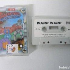 Videojuegos y Consolas: WARP WARP / JEWEL CASE / MSX / RETRO VINTAGE / CASSETTE - CINTA. Lote 201276510