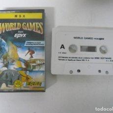 Videojuegos y Consolas: WORLD GAMES / JEWEL CASE / MSX / RETRO VINTAGE / CASSETTE - CINTA. Lote 201276520