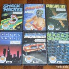 Videojuegos y Consolas: LOTE 6 JUEGOS MSX EN CASETE: SPACE BUSTERS, MOONRIDER, PANIQUE, SMACK WACKER, PANEL PANIC, MAZES. Lote 205533838