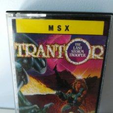 Videojuegos y Consolas: JUEGO MSX CASETE TRANTOR (ERBE, 1988). Lote 206254385