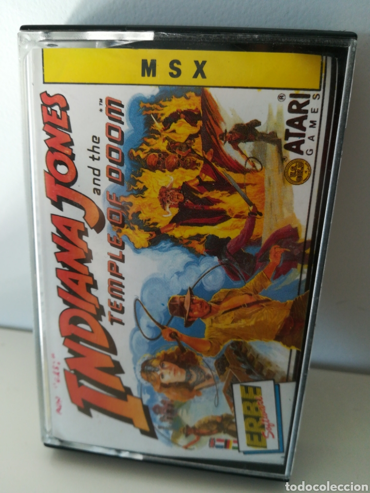 JUEGO MSX CASETE INDIANA JONES AND THE TEMPLE OF DOOM (ERBE, 1988) (Juguetes - Videojuegos y Consolas - Msx)