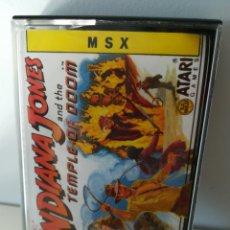 Videojuegos y Consolas: JUEGO MSX CASETE INDIANA JONES AND THE TEMPLE OF DOOM (ERBE, 1988). Lote 206256247
