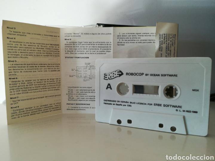 Videojuegos y Consolas: Juego MSX casete Robocop (Erbe/Ocean, 1989) - Foto 4 - 206257292