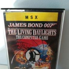 Videojuegos y Consolas: JUEGO MSX CASETE JAMES BOND 007 ALTA TENSIÓN (ERBE, 1987). Lote 206258927