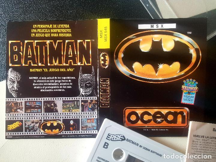 JUEGOS PARA SONY MSX HIT BIT HB-75B BATMAN AÑOS 80 CASSETTE ORIGINAL (Juguetes - Videojuegos y Consolas - Msx)