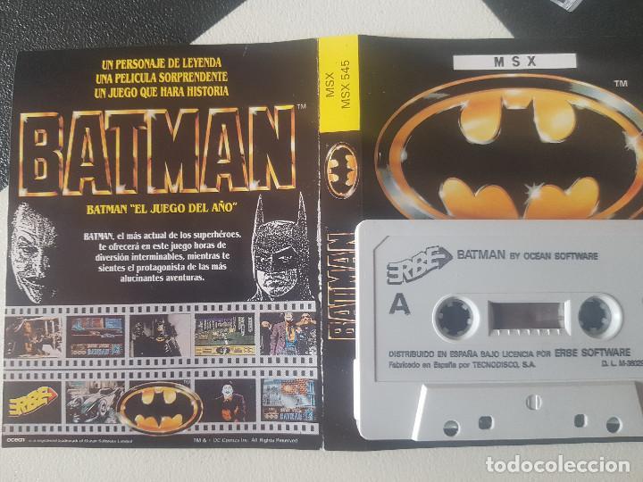 Videojuegos y Consolas: JUEGOS PARA SONY MSX HIT BIT HB-75B BATMAN AÑOS 80 CASSETTE ORIGINAL - Foto 7 - 206815708