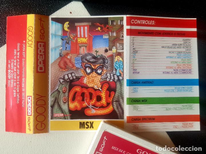 JUEGOS PARA SONY MSX HIT BIT HB-75B GOODY AÑOS 80 CASSETTE ORIGINAL ERBE (Juguetes - Videojuegos y Consolas - Msx)