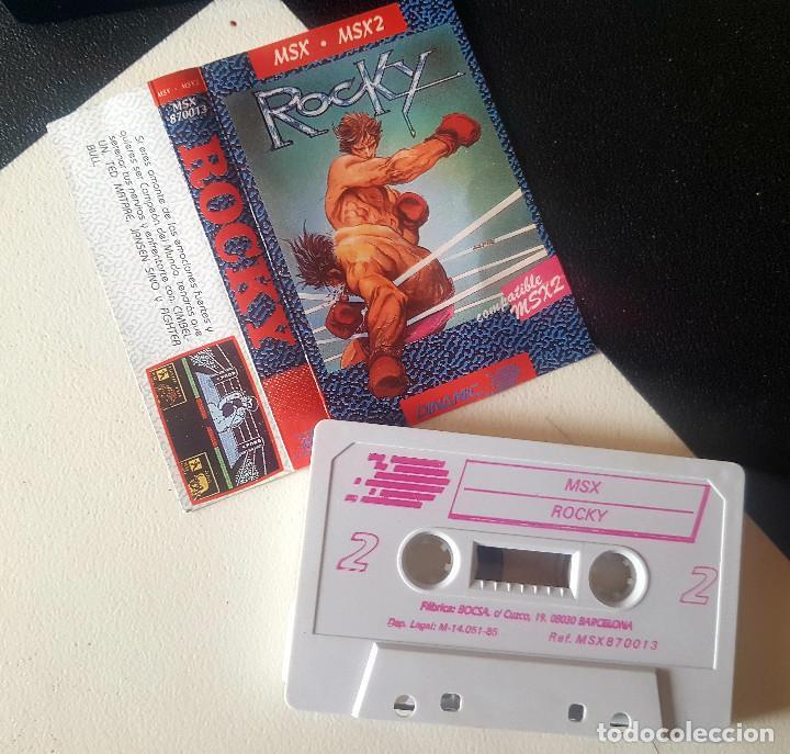 JUEGOS PARA SONY MSX HIT BIT HB-75B ROCKY AÑOS 80 CASSETTE ORIGINAL ERBE (Juguetes - Videojuegos y Consolas - Msx)