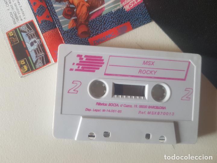 Videojuegos y Consolas: JUEGOS PARA SONY MSX HIT BIT HB-75B ROCKY AÑOS 80 CASSETTE ORIGINAL ERBE - Foto 2 - 206816287
