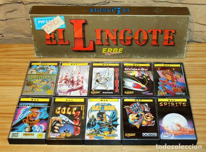 EL LINGOTE - MSX - COMPLETO - ERBE SOFTWARE - TOPO SOFT - OCEAN - US GOLD - 10 JUEGOS (Juguetes - Videojuegos y Consolas - Msx)