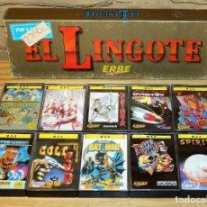 Videojuegos y Consolas: EL LINGOTE - MSX - COMPLETO - ERBE SOFTWARE - TOPO SOFT - OCEAN - US GOLD - 10 JUEGOS. Lote 206847336