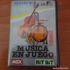 Videojuegos y Consolas: MUSICA EN JUEGO MSX COMPLETO. Lote 207218296