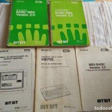Videojuegos y Consolas: MANUALES ORDENADOR MSX2 HB-F9S. Lote 209933065