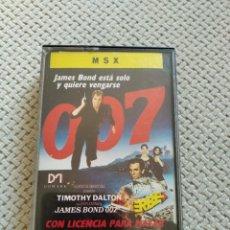 Videojuegos y Consolas: 007 LICENCIA PARA MATAR MSX. Lote 210936682