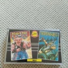 Videojuegos y Consolas: PSYCHO PIGS UXB / TITANIC MSX. Lote 210937189