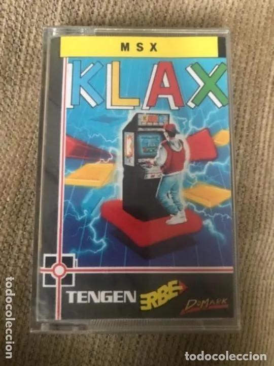 ANTIGUO JUEGO MSX KLAX TENGEN ERBE (Juguetes - Videojuegos y Consolas - Msx)