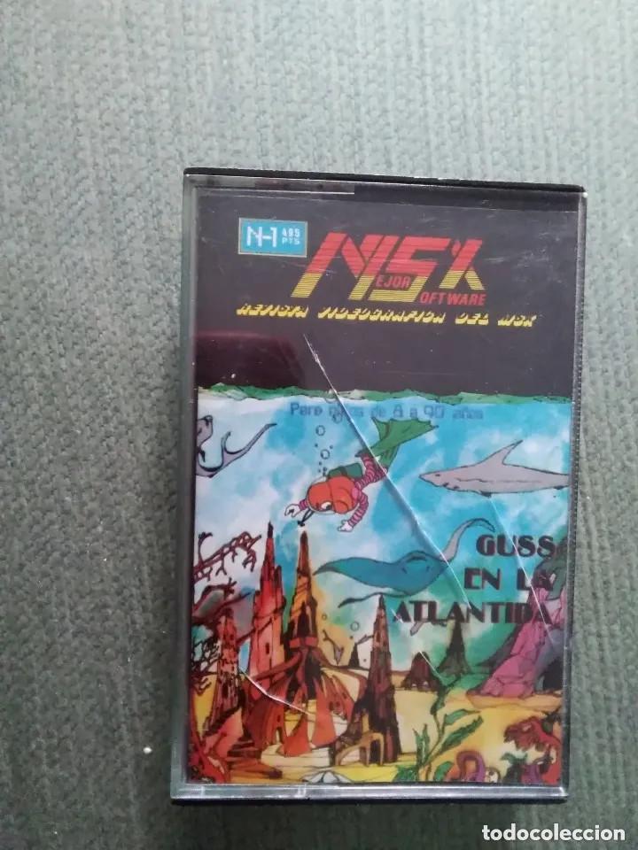 ANTIGUO JUEGO MSX CASSETTE - GUSS EN LA ATLANTIDA - 1985 (Juguetes - Videojuegos y Consolas - Msx)