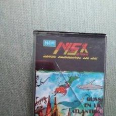 Videojuegos y Consolas: ANTIGUO JUEGO MSX CASSETTE - GUSS EN LA ATLANTIDA - 1985. Lote 212470030