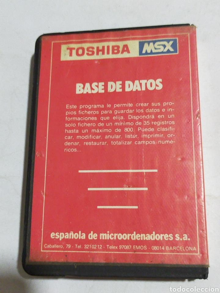 Videojuegos y Consolas: BASE DE DATOS TOSHIBA MSX - Foto 3 - 214053765