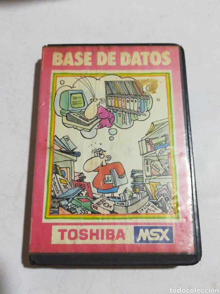 BASE DE DATOS TOSHIBA MSX (Juguetes - Videojuegos y Consolas - Msx)