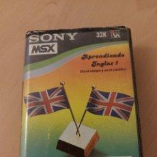 Videojuegos y Consolas: MSX JUEGO APRENDIENDO INGLES I. EN EL CAMPO Y EN EL CASTILLO. CASETTE. SONY.. Lote 215483953