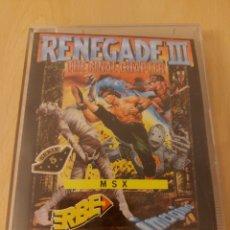 Videojuegos y Consolas: RENEGADE III THE FINAL CHAPTER [OCEAN SOFTWARE] 1989 IMAGINE - ERBE SOFTWARE [MSX]. Lote 215585615
