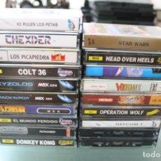 Jeux Vidéo et Consoles: LOTE DE 19 JUEGOS MSX STAR WARS QUE RULEN LOS PETAS BOOGA-BOO CUBIT XIZOLOG. Lote 216834557