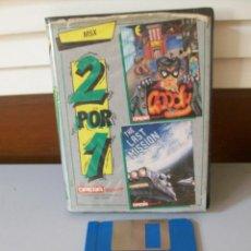 Videojogos e Consolas: VIDEO JUEGO 2POR1-GOODY-THE LAST MISION-MSX. Lote 217200445