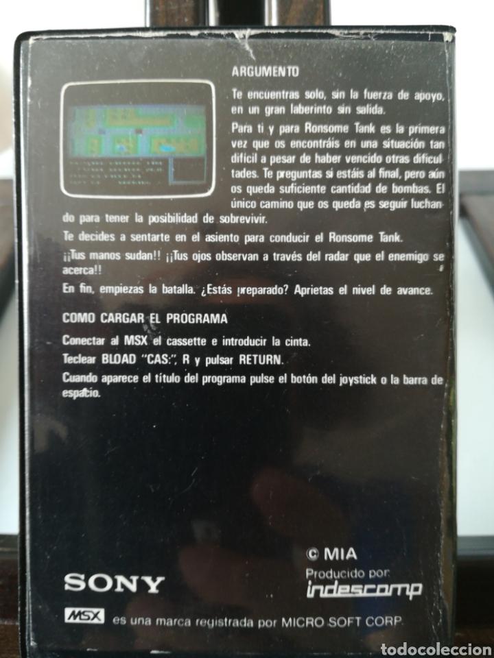 Videojuegos y Consolas: Juego MSX Casete Cassette Batalla de Tanques/ Hit Bit, años 80 - Foto 2 - 217831457