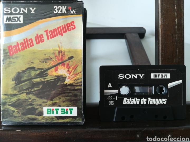 Videojuegos y Consolas: Juego MSX Casete Cassette Batalla de Tanques/ Hit Bit, años 80 - Foto 4 - 217831457