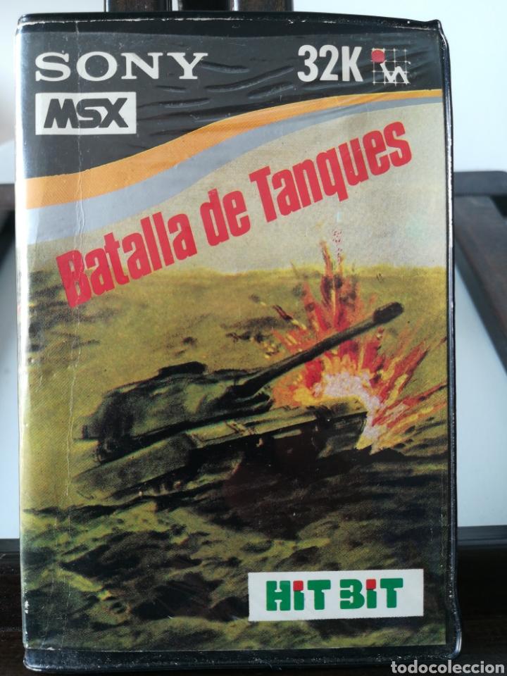 JUEGO MSX CASETE CASSETTE BATALLA DE TANQUES/ HIT BIT, AÑOS 80 (Juguetes - Videojuegos y Consolas - Msx)