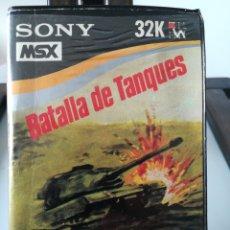 Videojuegos y Consolas: JUEGO MSX CASETE CASSETTE BATALLA DE TANQUES/ HIT BIT, AÑOS 80. Lote 217831457