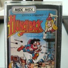 Videojuegos y Consolas: JUEGO MSX CASETE CASSETTE HUNCHBACK/ OCEAN, 1984. Lote 217833616