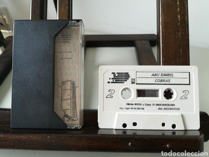 Videojuegos y Consolas: Juego MSX - MSX 2 casete Cuatro por Uno/ Incluye 4 juegos: Abu Simbel, Cobras, Phantomas 2 y Camelot - Foto 3 - 217897713