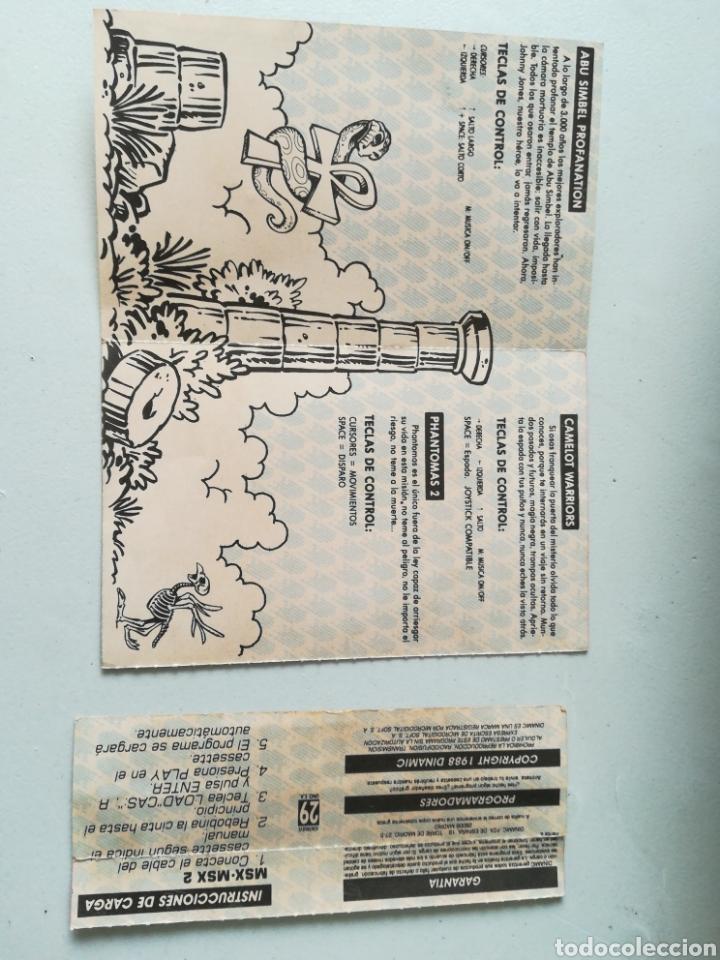 Videojuegos y Consolas: Juego MSX - MSX 2 casete Cuatro por Uno/ Incluye 4 juegos: Abu Simbel, Cobras, Phantomas 2 y Camelot - Foto 4 - 217897713