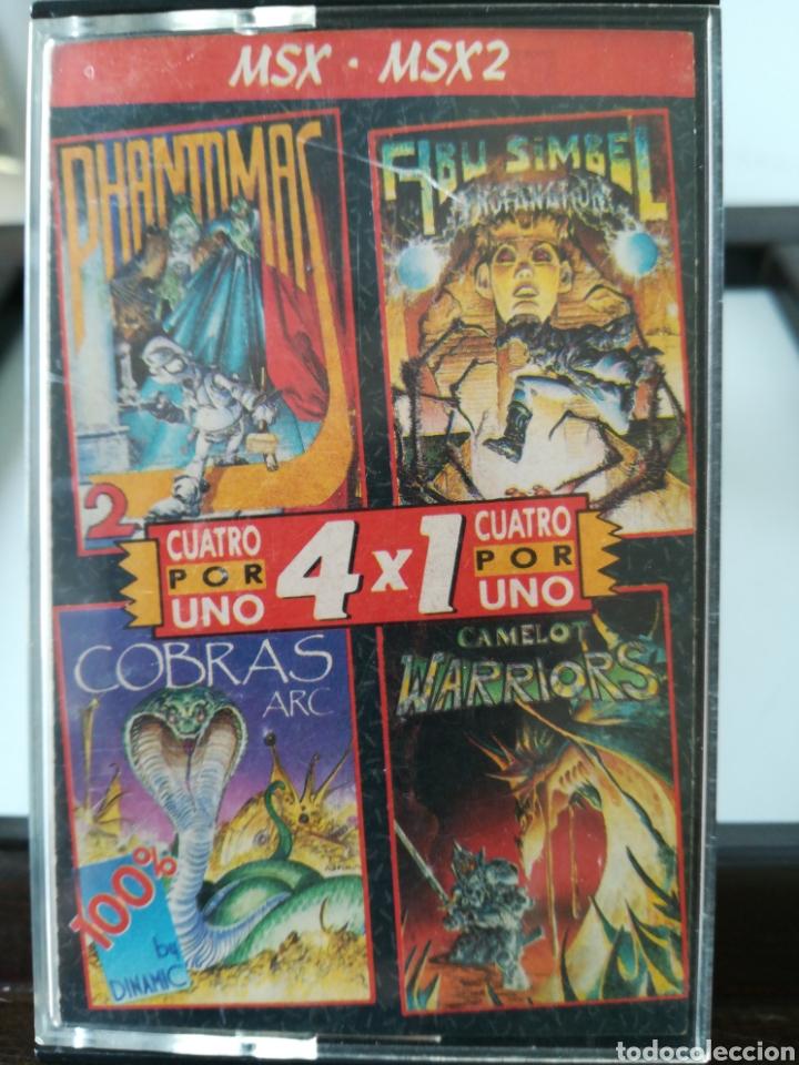 JUEGO MSX - MSX 2 CASETE CUATRO POR UNO/ INCLUYE 4 JUEGOS: ABU SIMBEL, COBRAS, PHANTOMAS 2 Y CAMELOT (Juguetes - Videojuegos y Consolas - Msx)