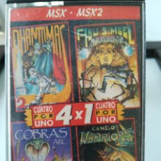 Videojuegos y Consolas: JUEGO MSX - MSX 2 CASETE CUATRO POR UNO/ INCLUYE 4 JUEGOS: ABU SIMBEL, COBRAS, PHANTOMAS 2 Y CAMELOT. Lote 217897713