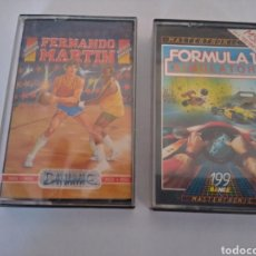 Videojuegos y Consolas: LOTE DE 2 JUEGOS MSX, (FERNANDO MARTIN Y FORMULA 1 SIMULATOR). Lote 217902937