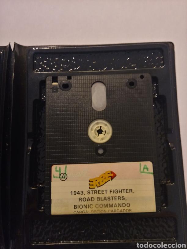 Videojuegos y Consolas: Vitaminas lote de videojuegos (1943, street fighter, road blasters, bionic commands) spectrum +3 - Foto 2 - 217994862